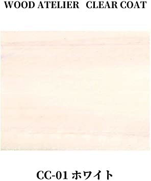 ホワイト 90ml 和信ペイント 水性ウレタンニス ウッドアトリエ クリアコート 90ml 800701 木部をコーティング C_画像2