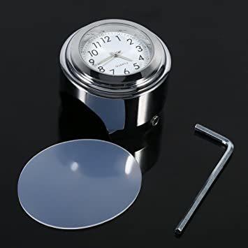 オートバイ用 アナログ時計 簡単取り付け 夜行式 夜光 防水 ハンドルバー ダイヤル時計 ホワイト 22mm~25mm 7/8~_画像7
