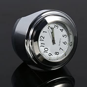 オートバイ用 アナログ時計 簡単取り付け 夜行式 夜光 防水 ハンドルバー ダイヤル時計 ホワイト 22mm~25mm 7/8~_画像5