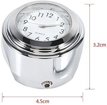 オートバイ用 アナログ時計 簡単取り付け 夜行式 夜光 防水 ハンドルバー ダイヤル時計 ホワイト 22mm~25mm 7/8~_画像9