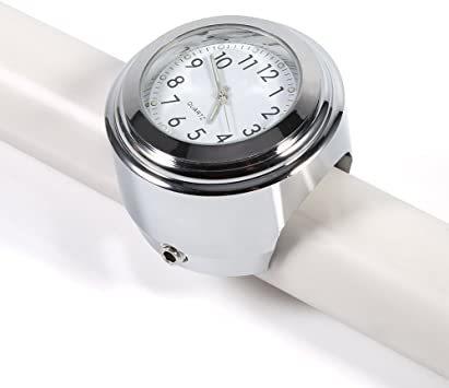 オートバイ用 アナログ時計 簡単取り付け 夜行式 夜光 防水 ハンドルバー ダイヤル時計 ホワイト 22mm~25mm 7/8~_画像8