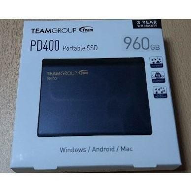 Team PD400 SSD 960GB 防水 耐衝撃 ポータブルSSD