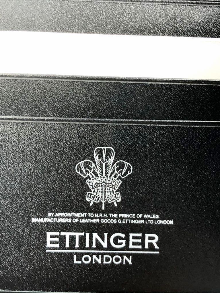 エッティンガー マネークリップ ブラック ブライドルレザー 未使用品 札バサミ 二つ折り財布 ETTINGER_画像4