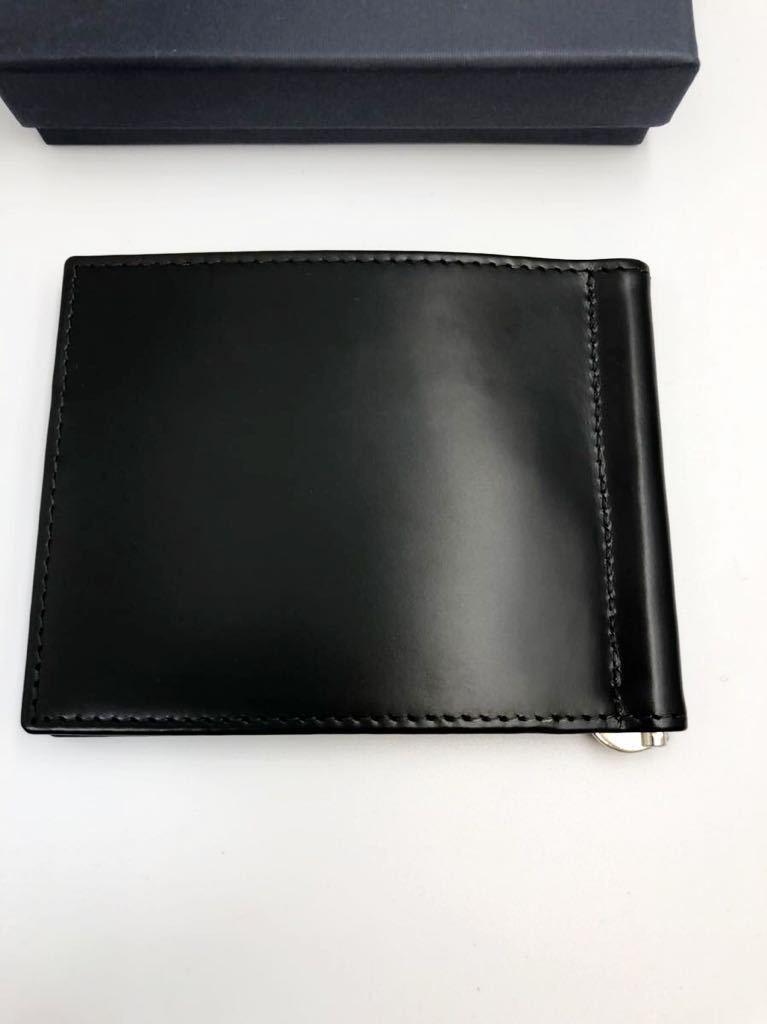 エッティンガー マネークリップ ブラック ブライドルレザー 未使用品 札バサミ 二つ折り財布 ETTINGER_画像2