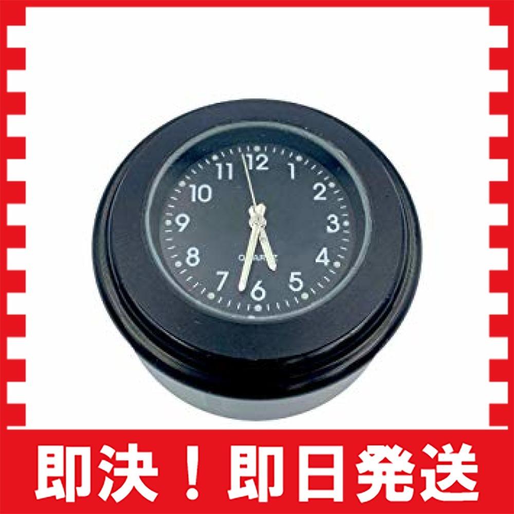 【新品最安!】黒(HH) VISPREA バイク 時計 防水 夜光機能 22mm~25mmハンドル適用 アナログ時計 夜光 ダイ_画像2