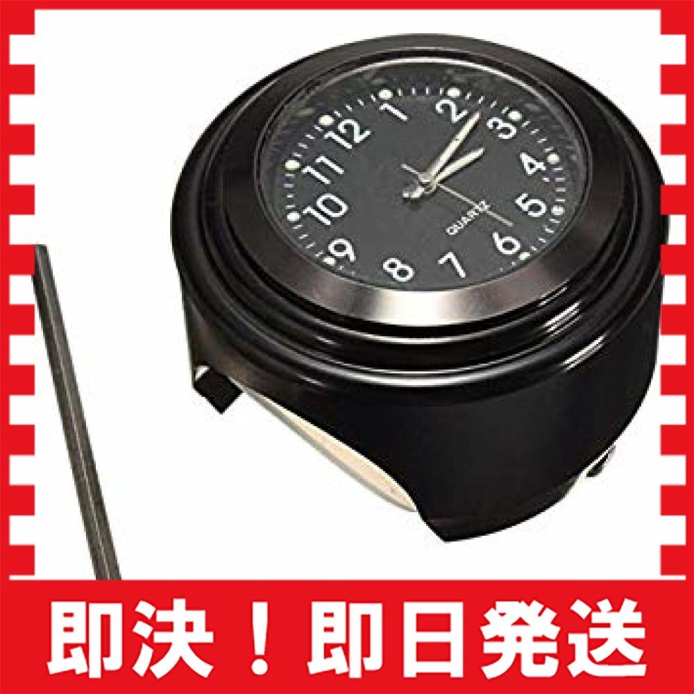 【新品最安!】黒(HH) VISPREA バイク 時計 防水 夜光機能 22mm~25mmハンドル適用 アナログ時計 夜光 ダイ_画像1