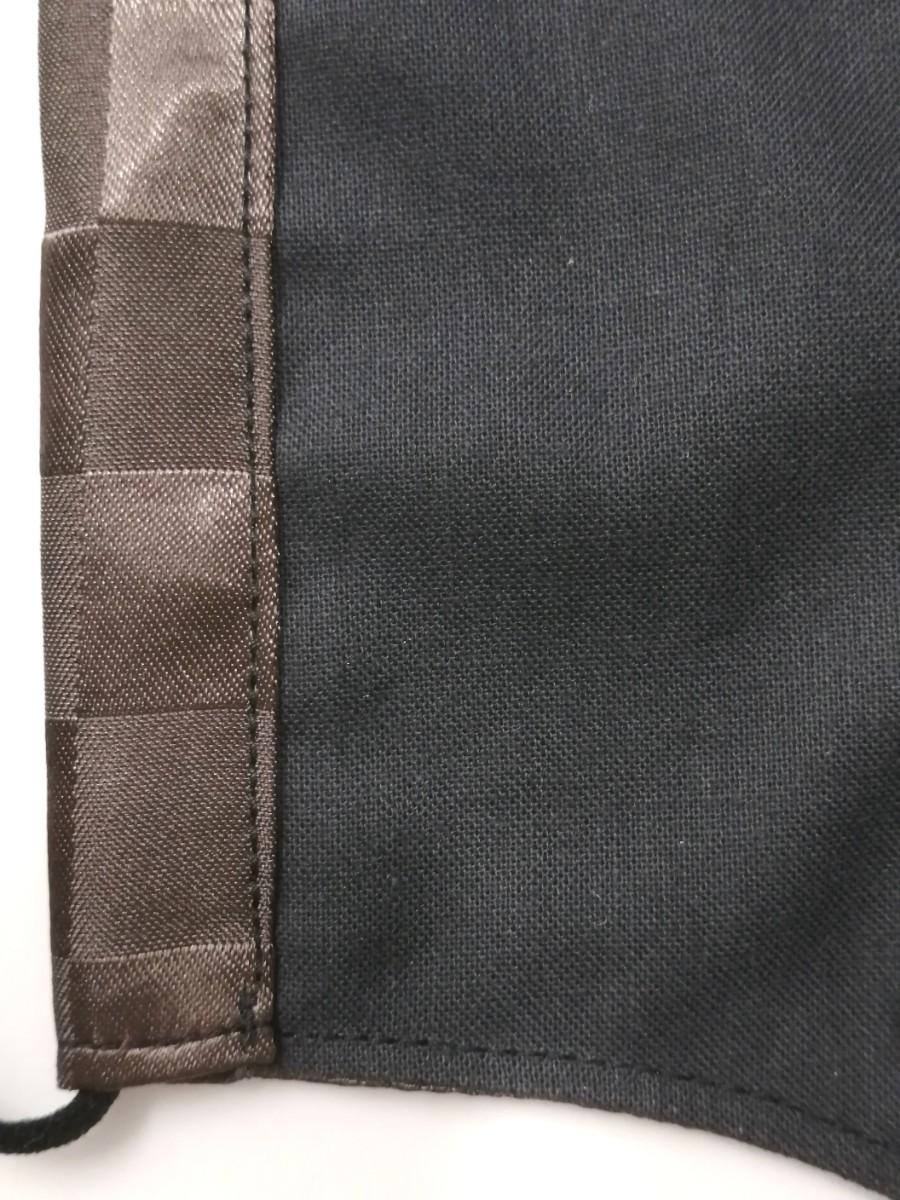 立体インナー ノーブランド モノグラム柄 ハンドメイド サテンブラウン 大きめサイズ