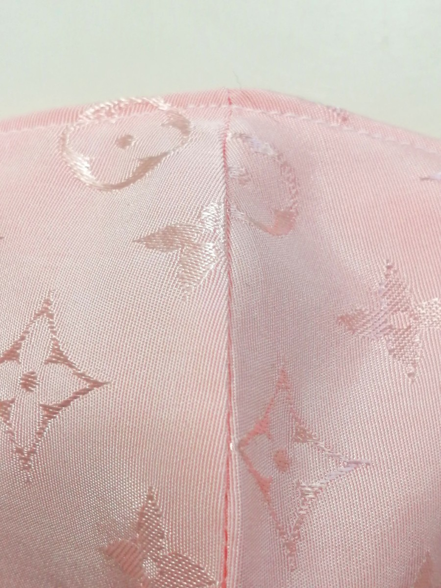 立体インナー ノーブランド モノグラム柄 ハンドメイド 大きめサイズ ピンク