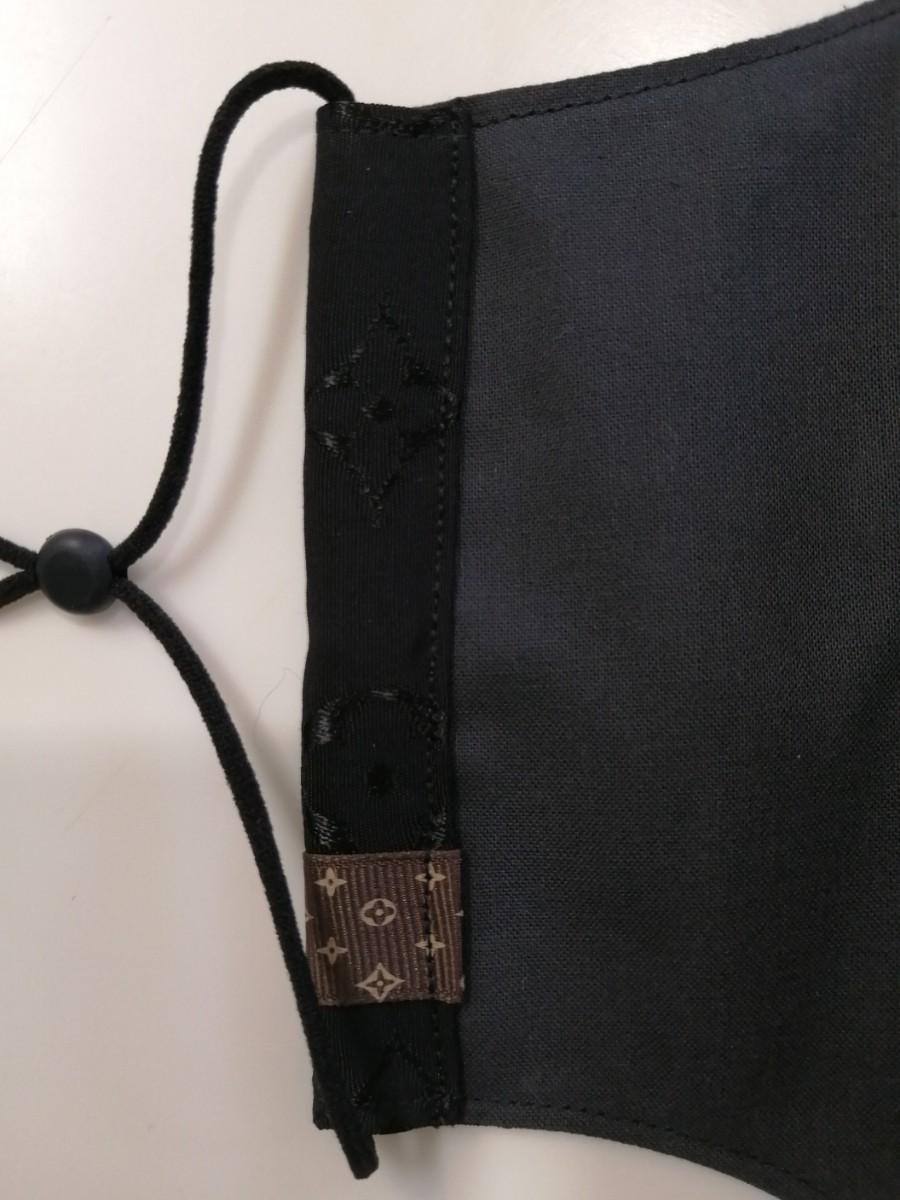 立体インナーノーブランド モノグラム柄ハンドメイド 大きめサイズ ブラウンタグ付き ゴムストッパー付き
