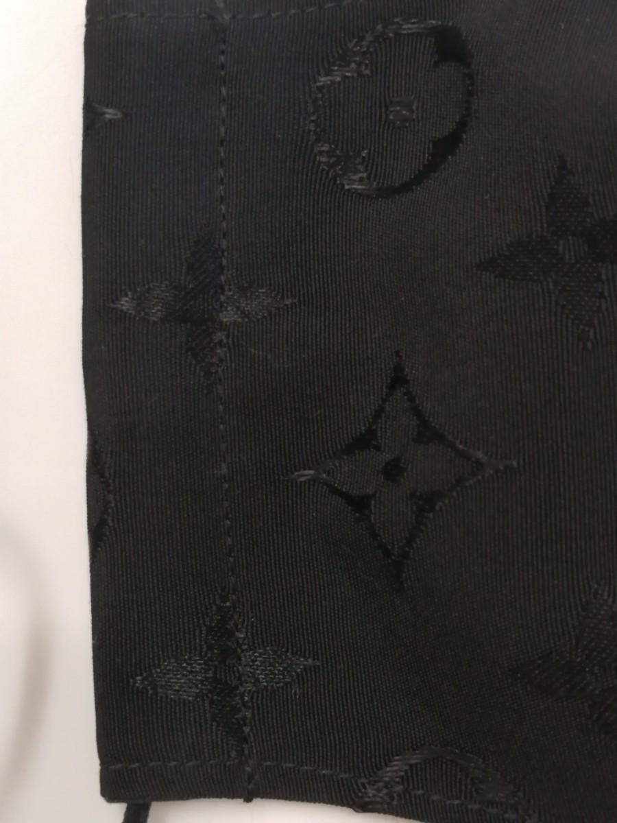 立体インナー ノーブランド モノグラム柄 ハンドメイド ブラック