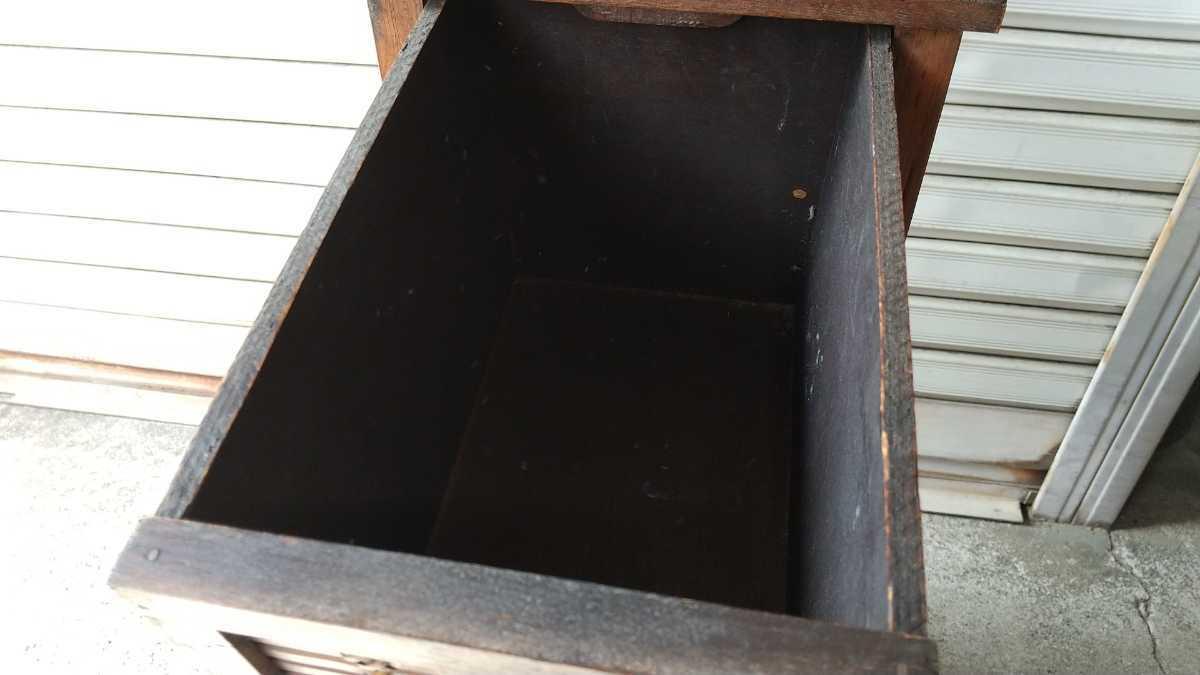 旧家買い取り品 収納箱 小引き出し 編み物 竹製 木製 昭和レトロ アンティーク 古い 収納棚 小物入れ _画像8