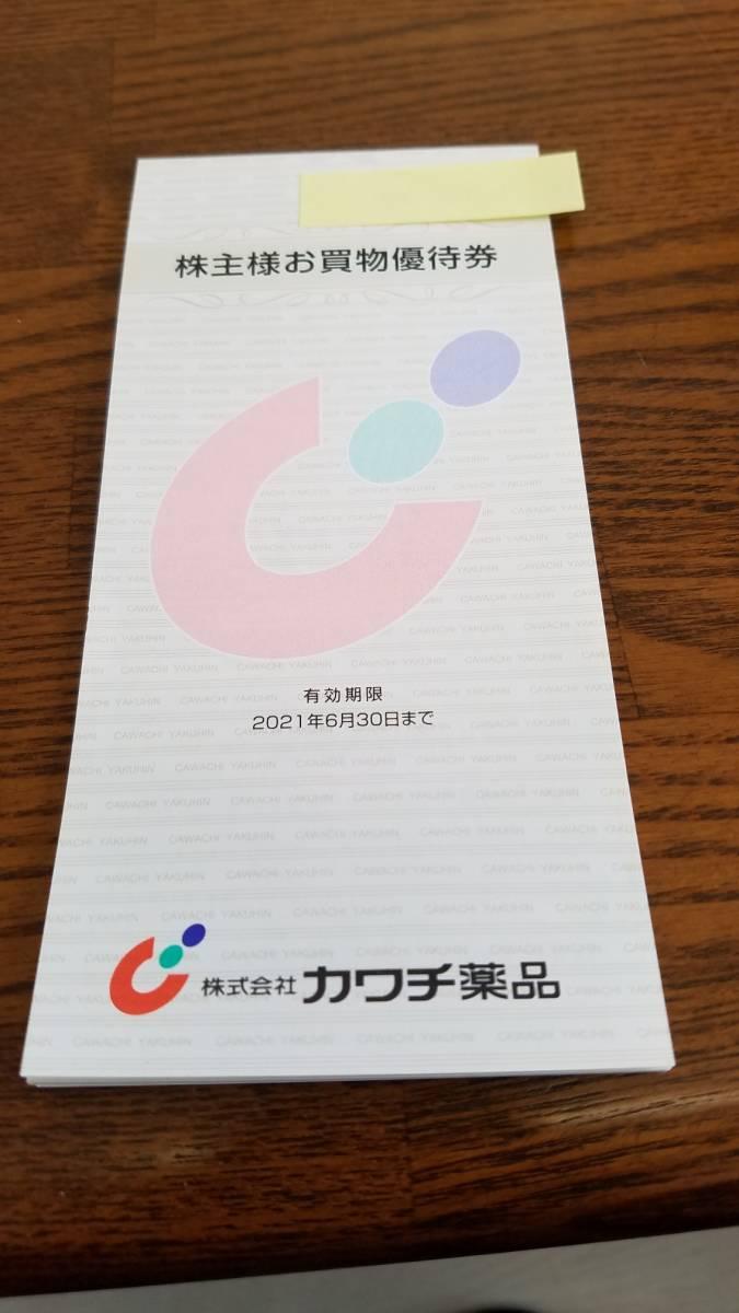 カワチ薬品 株主優待券 4600円分(100円券46枚)  2021.6.30まで_画像1