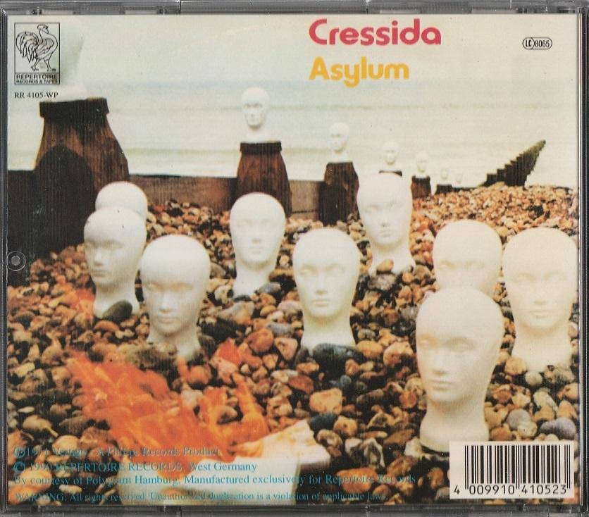 【中古】Cressida / Asylum (輸入盤, 盤質良好, 1971年作品) #Angus Cullen, Kevin McCarthy, Iain Clark, Peter Jennings, John Culley_画像2