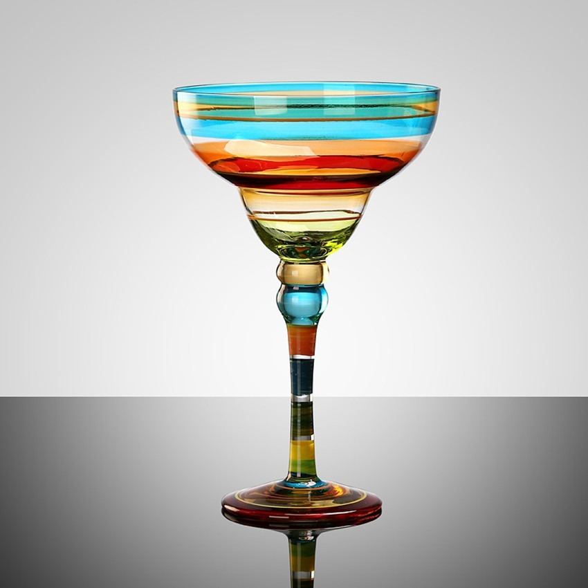 カラフルで楽しい●カクテルグラス ワイングラス カップ コップ グラス ゴブレット シャンパン パーティー 乾杯 おしゃれ ギフト bb173_画像1