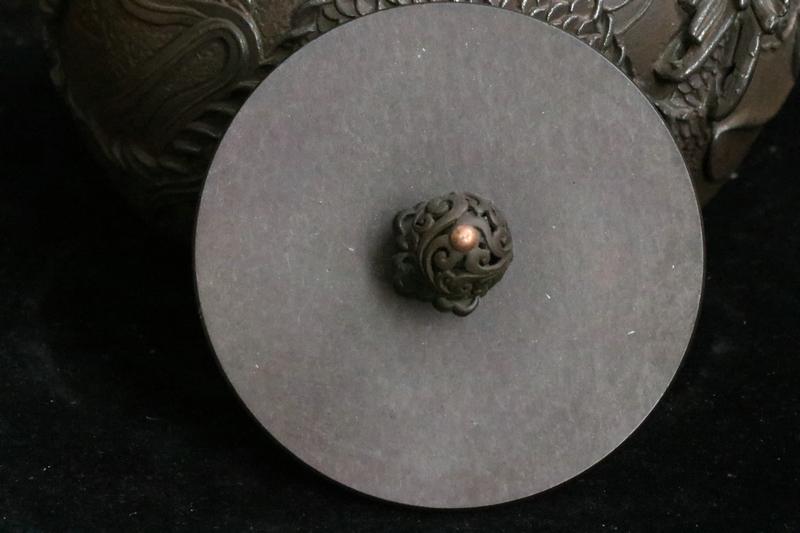鉄製 龍紋 鉄瓶 急須 在銘_画像7