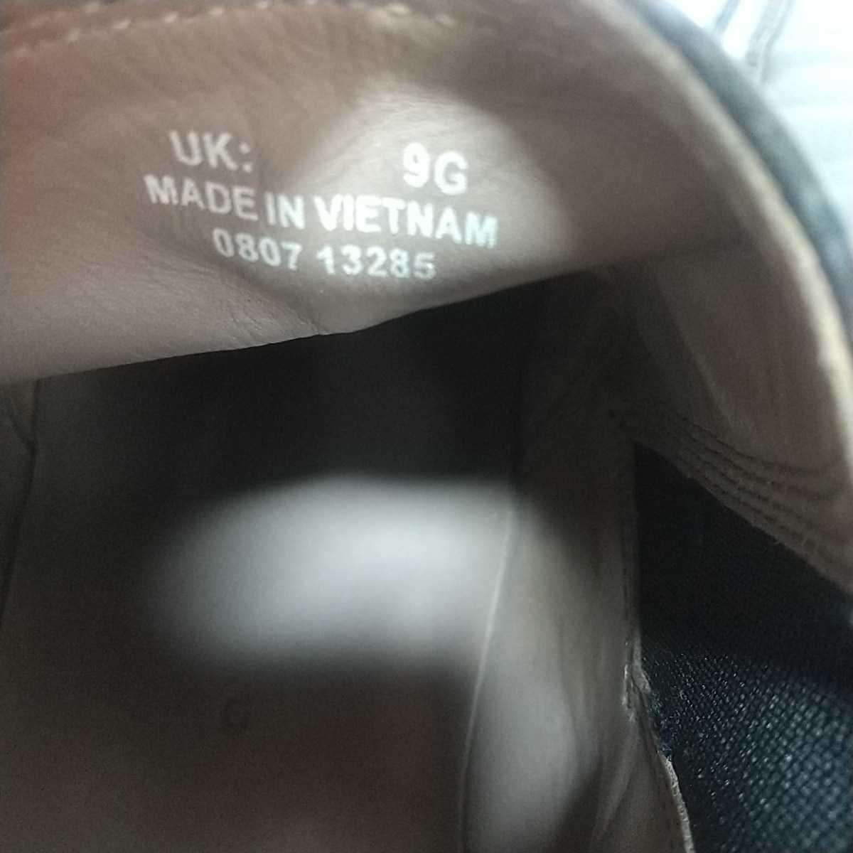 Clarks クラークス レザー サイドゴアブーツ ショート UK9 27.5cm 黒 ブラック 革靴 _画像8