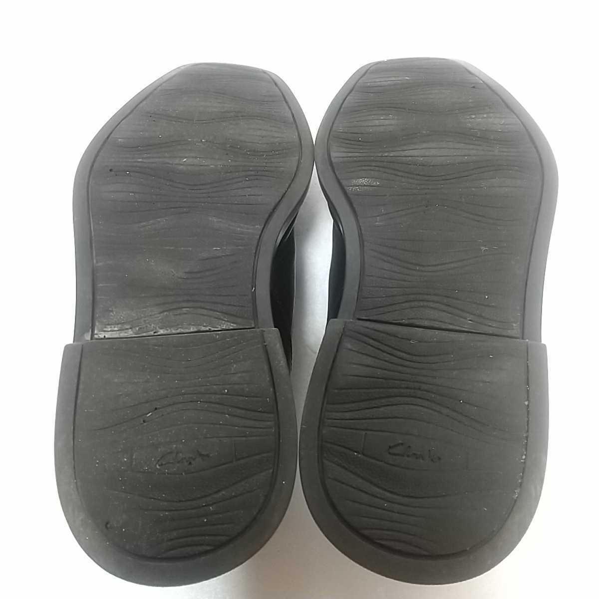 Clarks クラークス レザー サイドゴアブーツ ショート UK9 27.5cm 黒 ブラック 革靴 _画像9