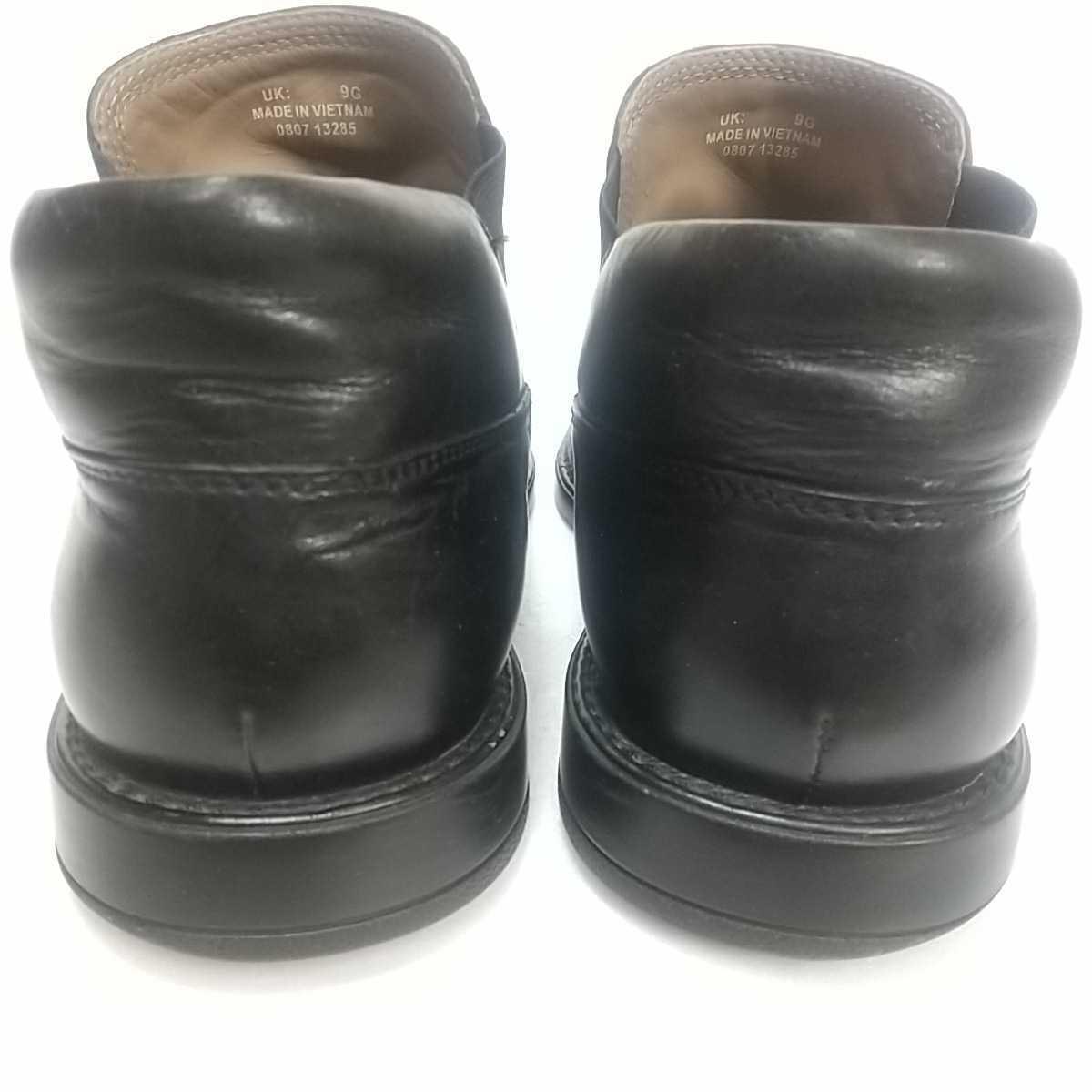 Clarks クラークス レザー サイドゴアブーツ ショート UK9 27.5cm 黒 ブラック 革靴 _画像7