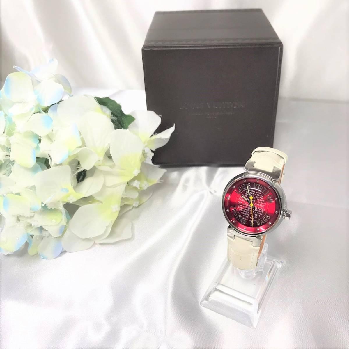 美品☆ ルイヴィトン タンブール Q131A 腕時計_画像1