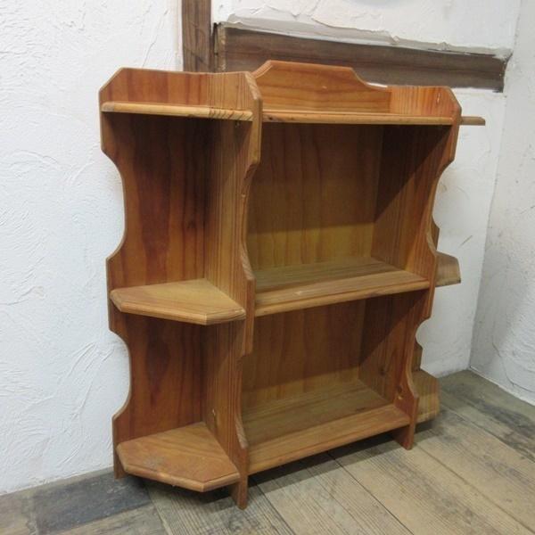 イギリス アンティーク 家具 ブックシェルフ ブックケース 本棚 飾り棚 収納 木製 パイン 英国 BOOKCASE 6717b_画像4