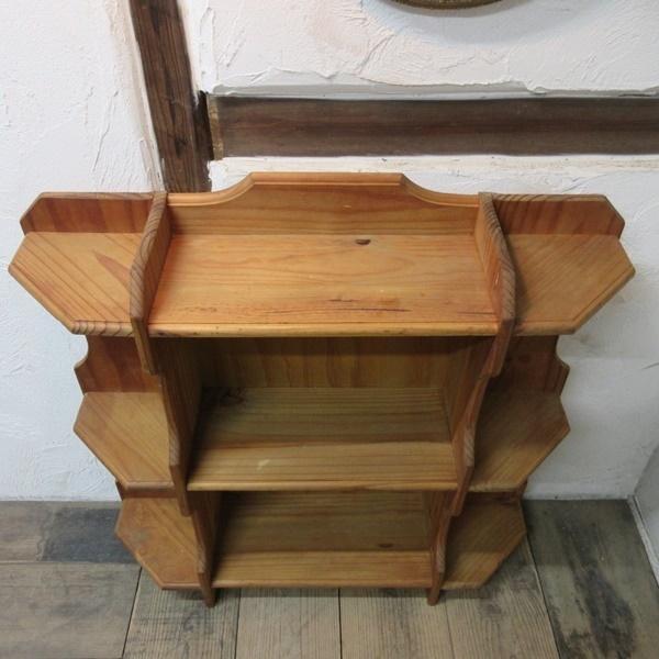 イギリス アンティーク 家具 ブックシェルフ ブックケース 本棚 飾り棚 収納 木製 パイン 英国 BOOKCASE 6717b_画像5