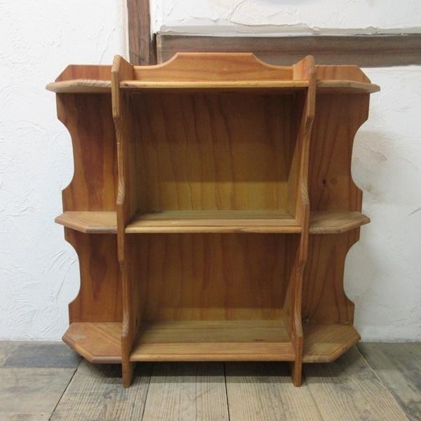 イギリス アンティーク 家具 ブックシェルフ ブックケース 本棚 飾り棚 収納 木製 パイン 英国 BOOKCASE 6717b_画像2