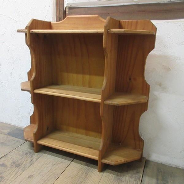 イギリス アンティーク 家具 ブックシェルフ ブックケース 本棚 飾り棚 収納 木製 パイン 英国 BOOKCASE 6717b_画像3