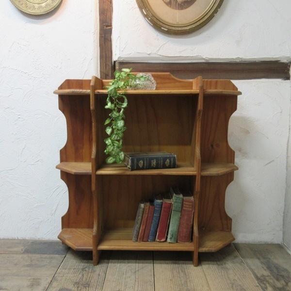 イギリス アンティーク 家具 ブックシェルフ ブックケース 本棚 飾り棚 収納 木製 パイン 英国 BOOKCASE 6717b_画像1