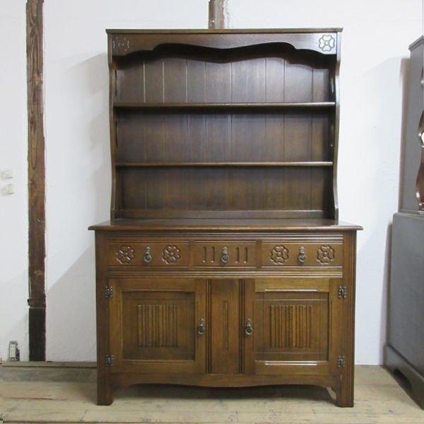 イギリス アンティーク 家具 ドレッサー カップボード キャビネット 飾り棚 食器棚 木製 オーク 収納 英国 COPBOARD 6730b_画像2
