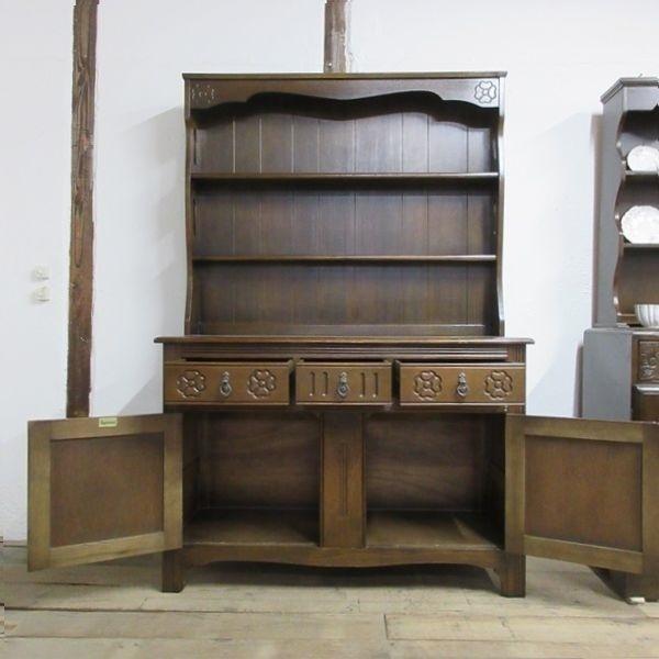 イギリス アンティーク 家具 ドレッサー カップボード キャビネット 飾り棚 食器棚 木製 オーク 収納 英国 COPBOARD 6730b_画像3
