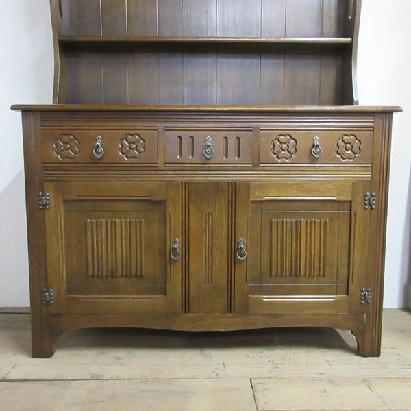 イギリス アンティーク 家具 ドレッサー カップボード キャビネット 飾り棚 食器棚 木製 オーク 収納 英国 COPBOARD 6730b_画像5