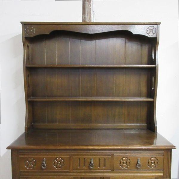 イギリス アンティーク 家具 ドレッサー カップボード キャビネット 飾り棚 食器棚 木製 オーク 収納 英国 COPBOARD 6730b_画像4