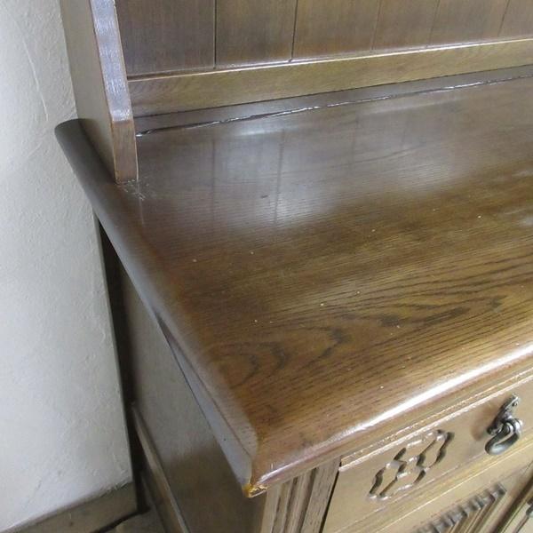 イギリス アンティーク 家具 ドレッサー カップボード キャビネット 飾り棚 食器棚 木製 オーク 収納 英国 COPBOARD 6730b_画像8