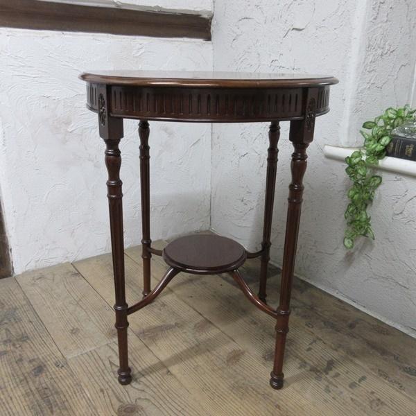 イギリス アンティーク 家具 オケージョナルテーブル サイドテーブル 飾り棚 花台 木製 マホガニー 英国 SMALLTABLE 6779b_画像3