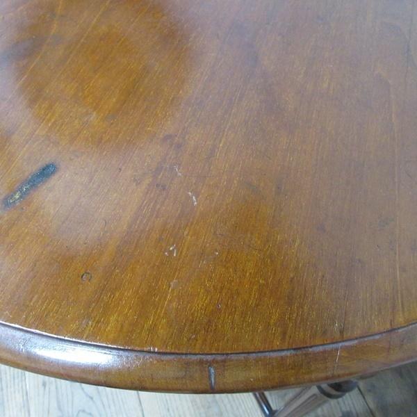 イギリス アンティーク 家具 オケージョナルテーブル サイドテーブル 飾り棚 花台 木製 マホガニー 英国 SMALLTABLE 6779b_画像8