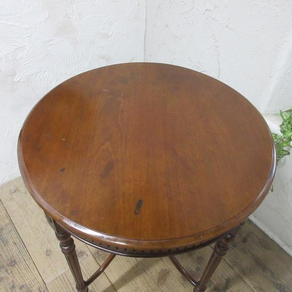 イギリス アンティーク 家具 オケージョナルテーブル サイドテーブル 飾り棚 花台 木製 マホガニー 英国 SMALLTABLE 6779b_画像4