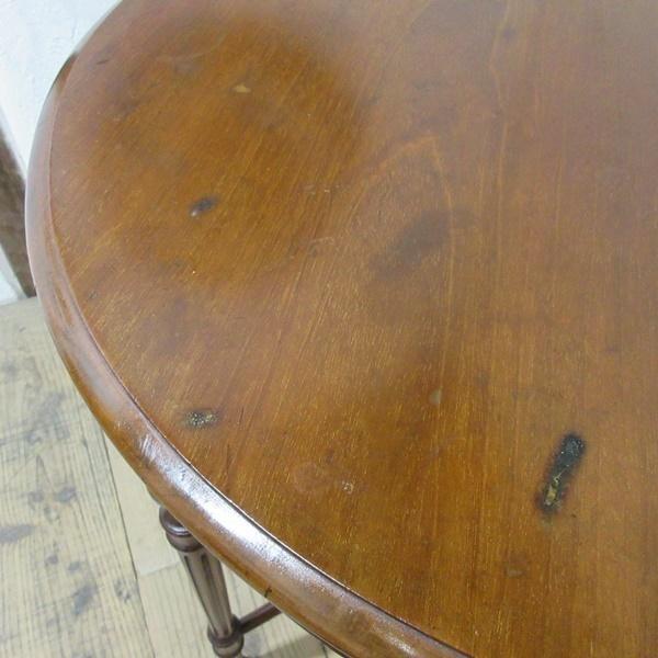 イギリス アンティーク 家具 オケージョナルテーブル サイドテーブル 飾り棚 花台 木製 マホガニー 英国 SMALLTABLE 6779b_画像7