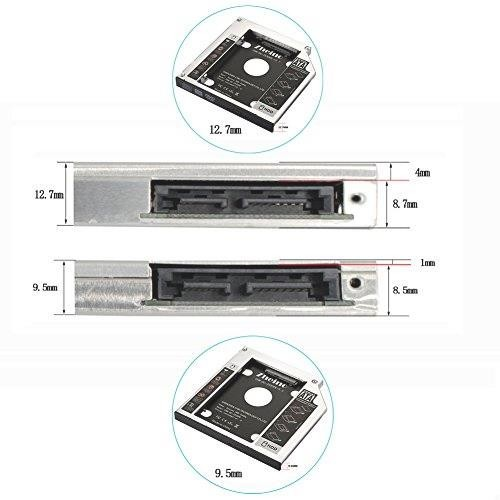 Zheino 2nd 9.5mmノートPCドライブマウンタ セカンド 光学ドライブベイ用 SATA/HDDマウンタよりCD/DVD CD ROM HDD CADDY に置き換えます_画像5