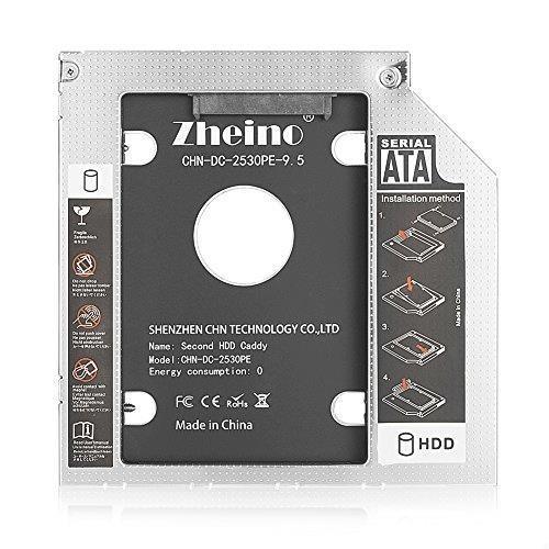 Zheino 2nd 9.5mmノートPCドライブマウンタ セカンド 光学ドライブベイ用 SATA/HDDマウンタよりCD/DVD CD ROM HDD CADDY に置き換えます_画像4