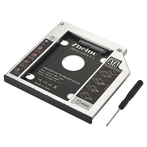 Zheino 2nd 9.5mmノートPCドライブマウンタ セカンド 光学ドライブベイ用 SATA/HDDマウンタよりCD/DVD CD ROM HDD CADDY に置き換えます_画像1