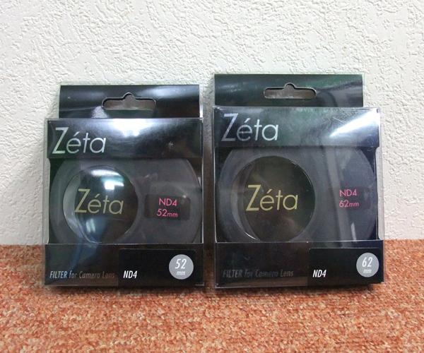 未開封品 Kenko/ケンコー Zeta ND4 レンズフィルター 減光フィルター 52mm/62mm 2枚セット 札幌市 屯田店