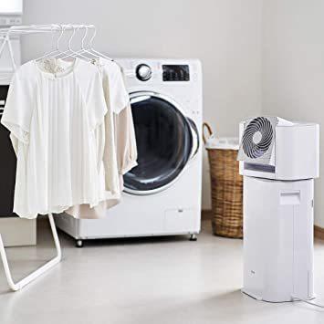 2)ホワイト/グレー アイリスオーヤマ 衣類乾燥除湿機 スピード乾燥 サーキュレーター機能付 デシカント式 ホワイト/グレー I_画像3