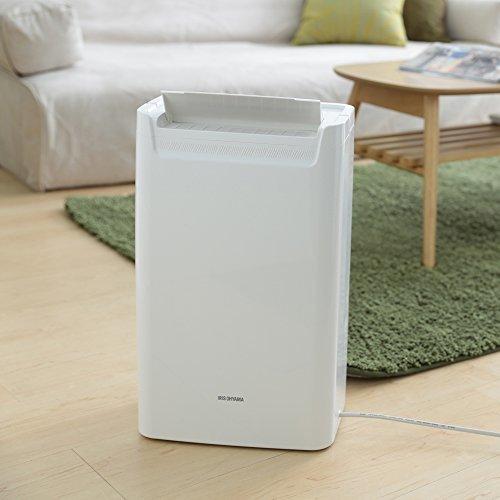 ホワイト 1)タンク容量1.8L アイリスオーヤマ 衣類乾燥除湿機 タイマー付 除湿量 6.5L コンプレッサー方式 DCE-6_画像6