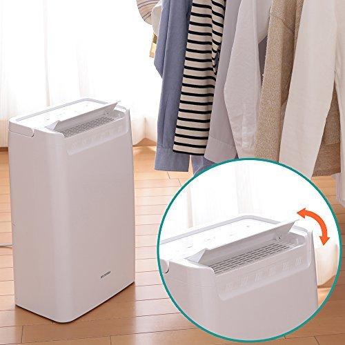 ホワイト 1)タンク容量1.8L アイリスオーヤマ 衣類乾燥除湿機 タイマー付 除湿量 6.5L コンプレッサー方式 DCE-6_画像2