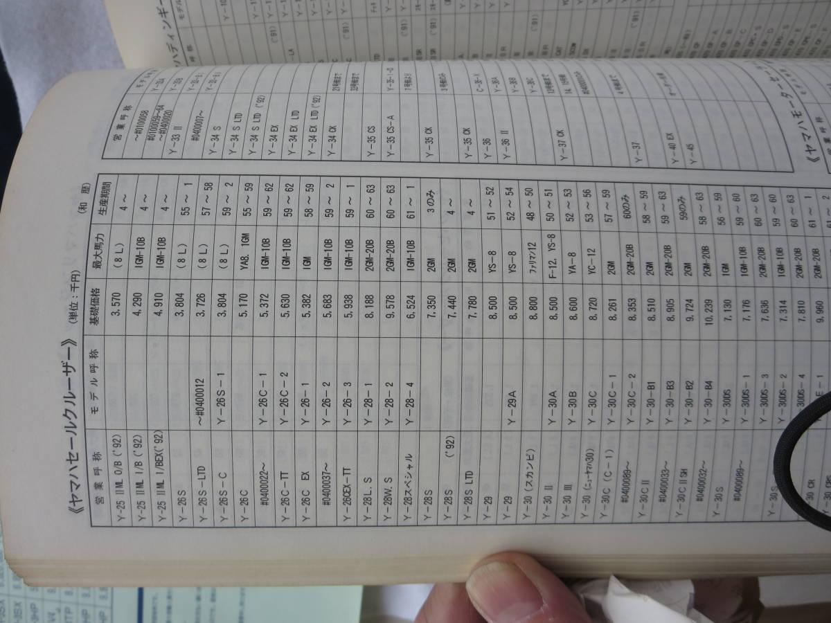ヤマハ 平成5年度 ヤマハ  中古艇ハンドブック セールスマン用 社外秘 前頁付き_画像7