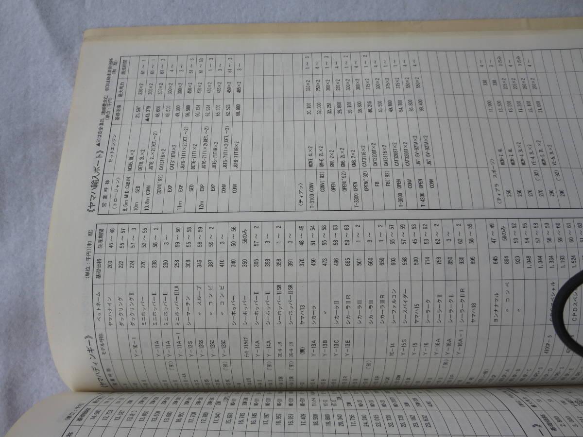 ヤマハ 平成5年度 ヤマハ  中古艇ハンドブック セールスマン用 社外秘 前頁付き_画像6