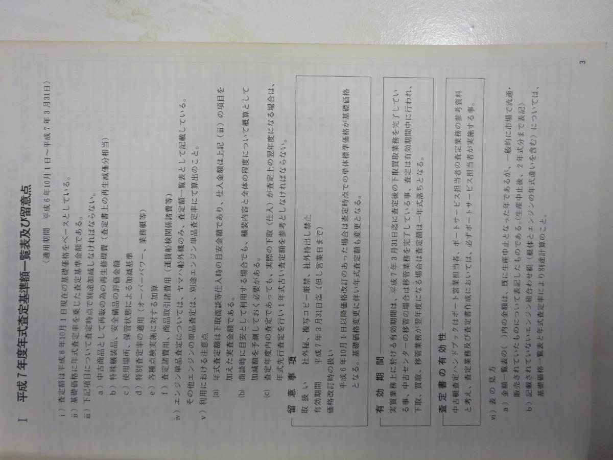 ヤマハ 平成7年度 ヤマハ  中古艇ハンドブック セールスマン用 社外秘 前頁付き_画像4