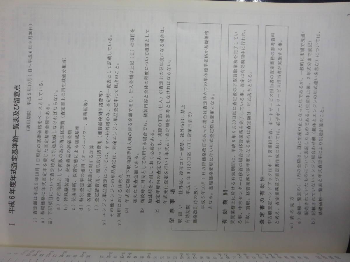 ヤマハ 2001年度 ヤマハ  中古艇ハンドブック セールスマン用 社外秘 前頁付き_画像4