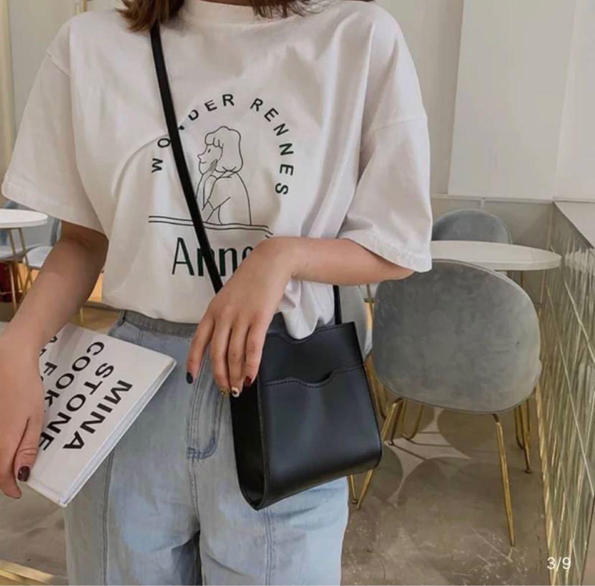 ショルダーバッグ ミニショルダー スクエアバッグ ミニバッグ ブラック 韓国 韓国ファッション