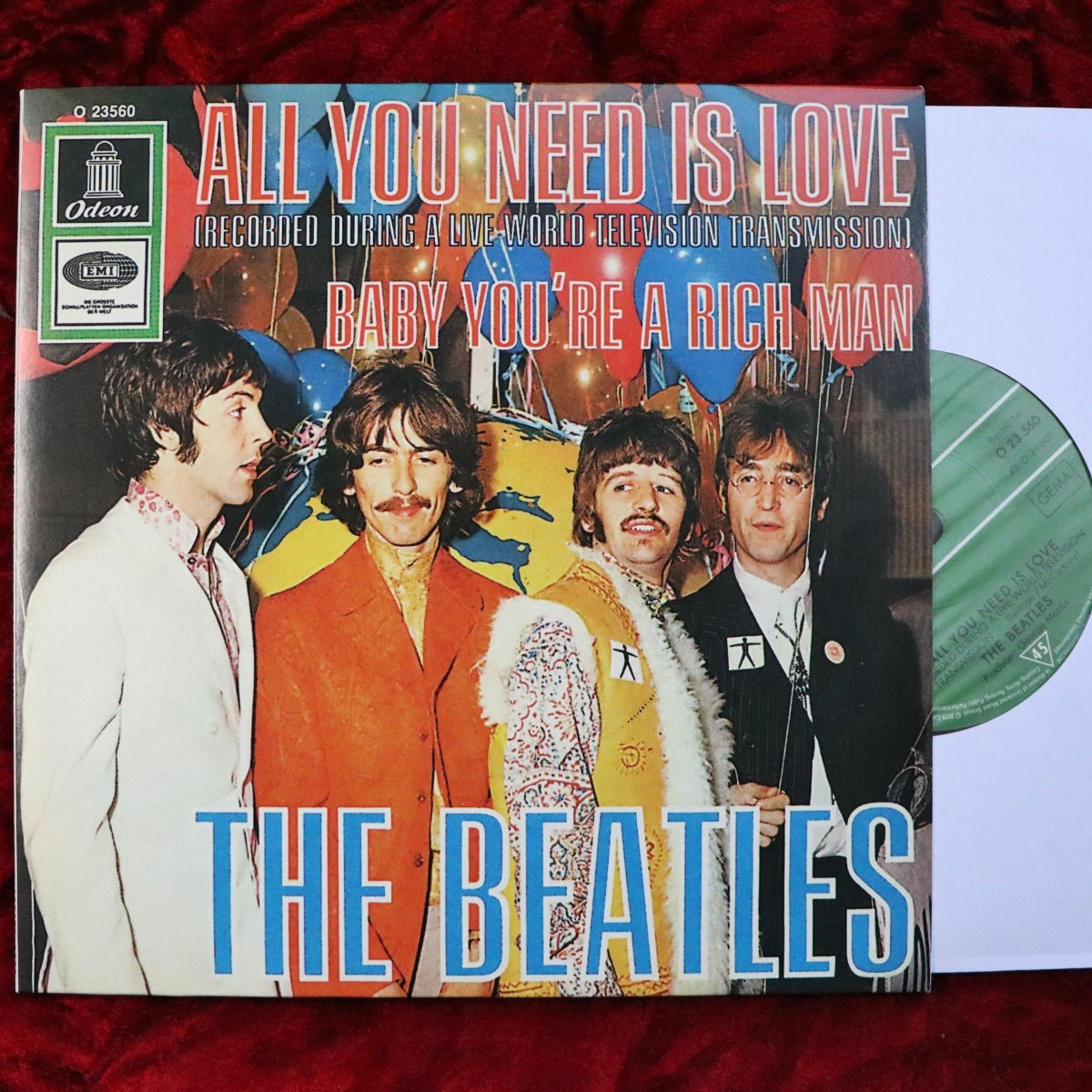 The Beatles/ビートルズ ALL YOU NEED IS LOVE/BABY YOU'RE A RICH MAN 2019シングルボックス バラ EU盤 (西ドイツ盤スリーブ) 21C26001